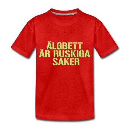 Älgbett är ruskiga saker - Premium T-shirt barn