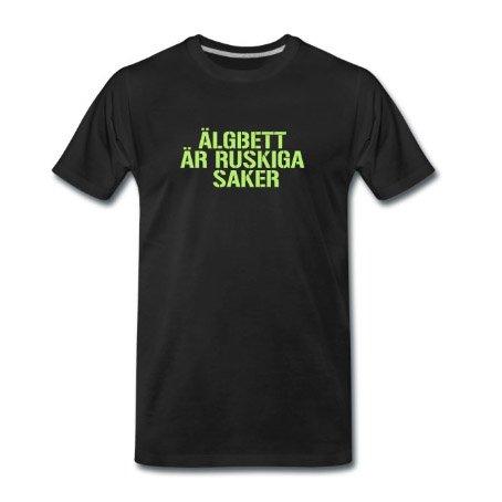 Älgbett är ruskiga saker - Premium T-shirt herr